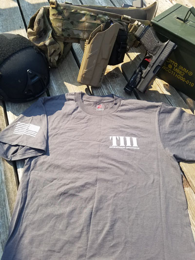 T3 Ops T-Shirt Gray Front