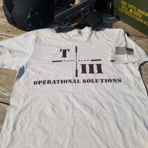 T3Ops Tan Tshirt Back