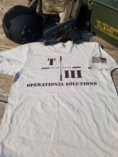 T3Ops Tan Tshirt Back